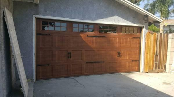 GARAGE DOOR INSTALLED!!!!