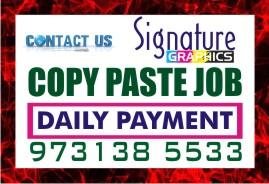 Bangalore Lingarajpuram jOBS Copy paste Job Daily payment  Daily 100% Income