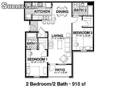 $698 Two bedroom Apartment for rent