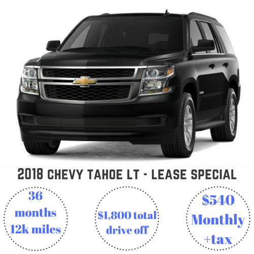 2018 Chevy Tahoe LT Lease Special