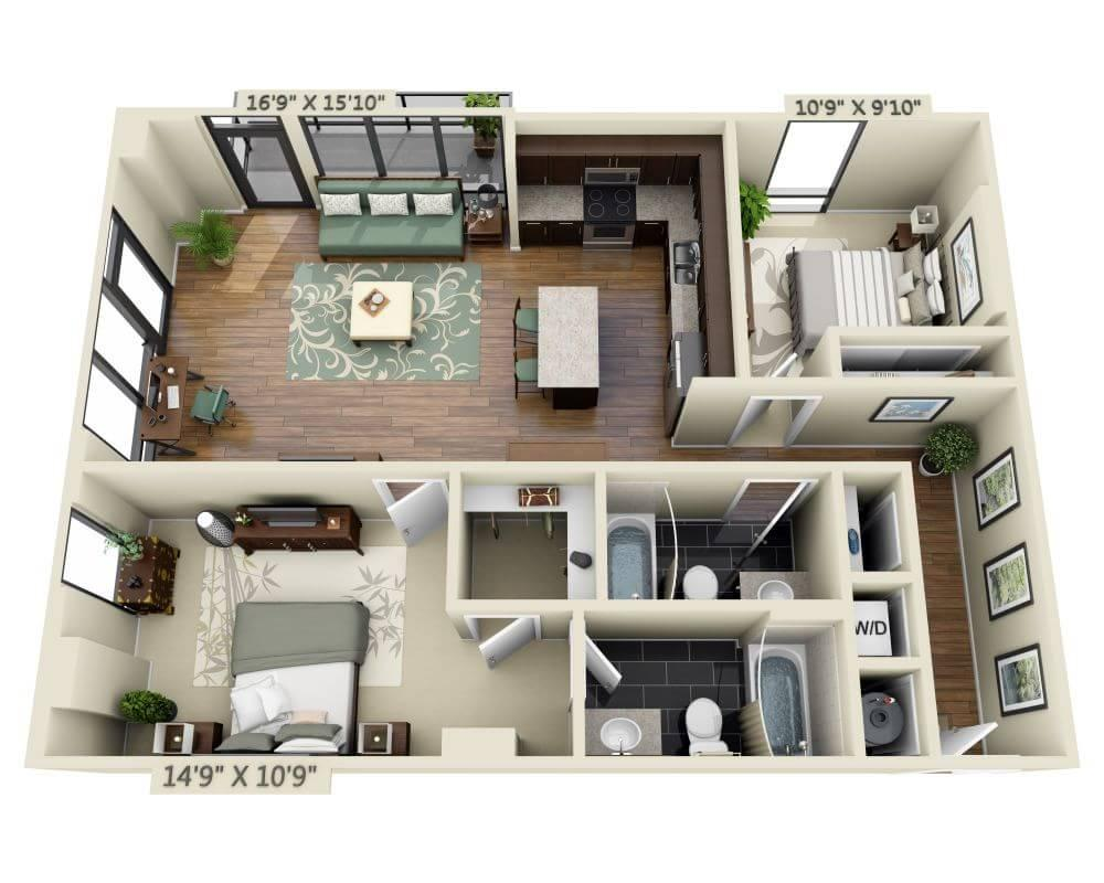 $3971 Two bedroom Apartment for rent