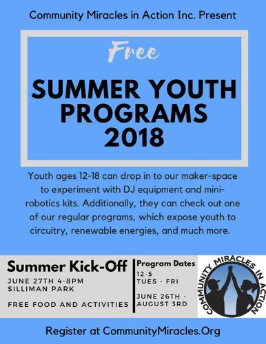 FREE Summer Programs for teens