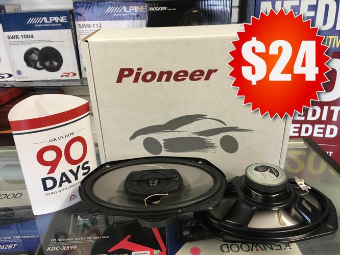 Pioneer Car Stereo 6x9 Car Audio Speakers