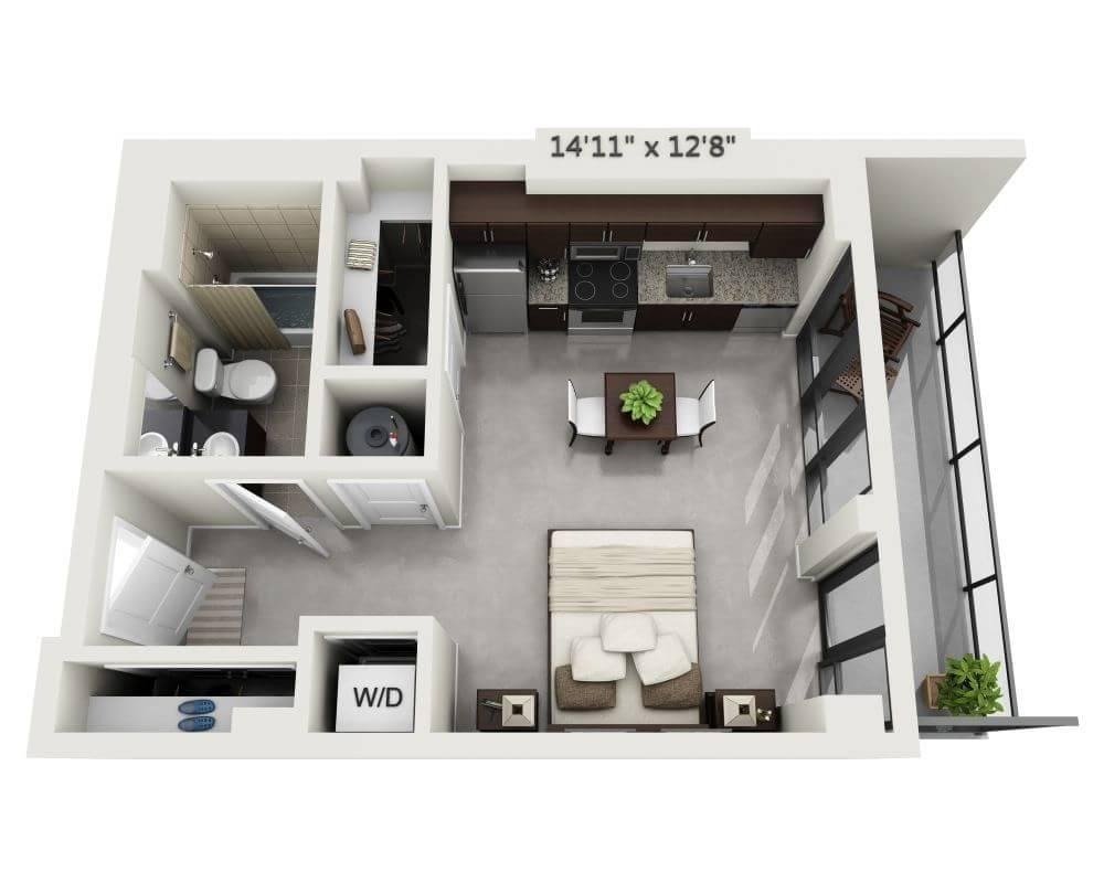 $1508 Studio Apartment for rent