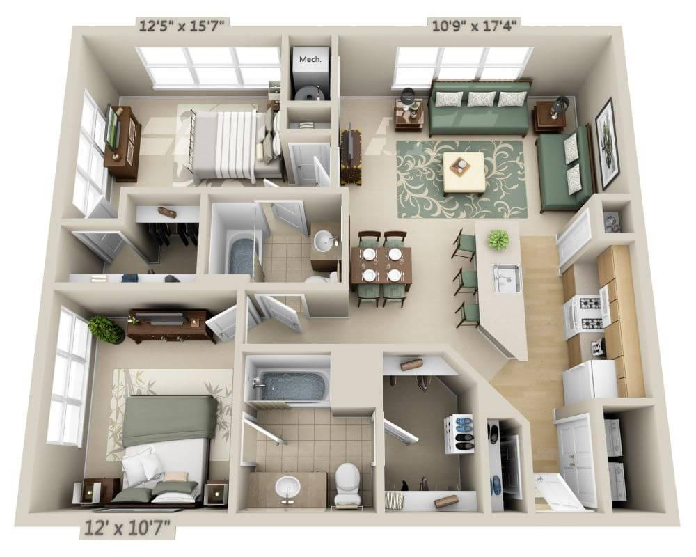 $1854 Two bedroom Apartment for rent
