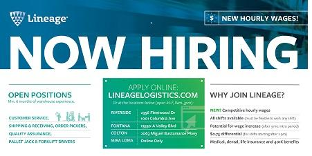Lineage Logistics-Now  Hiring