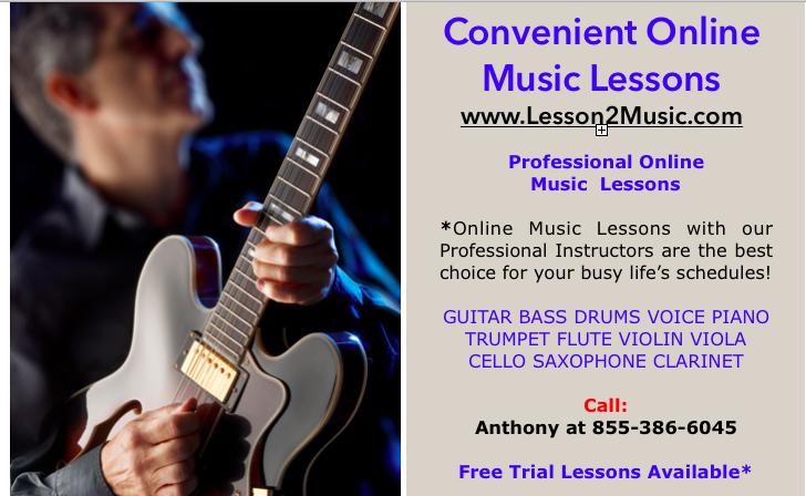 CONVENIENT MUSIC LESSONS ONLINE
