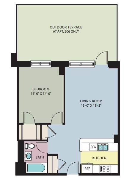 $8310 One bedroom Apartment for rent