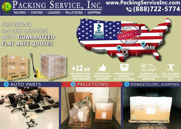 Houston, Texas - Industrial Crates, Pack and Ship - Packing Service, Inc