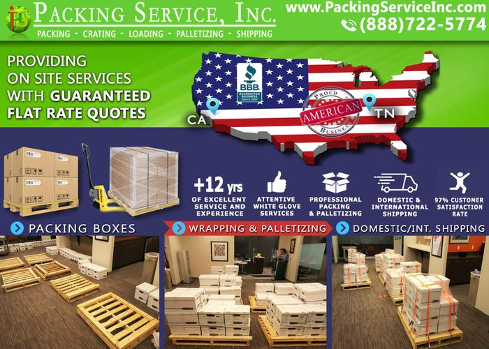 Shrink Wrap Palletizing, Crate and Ship – Packing Service, Inc. - Reno, Nevada