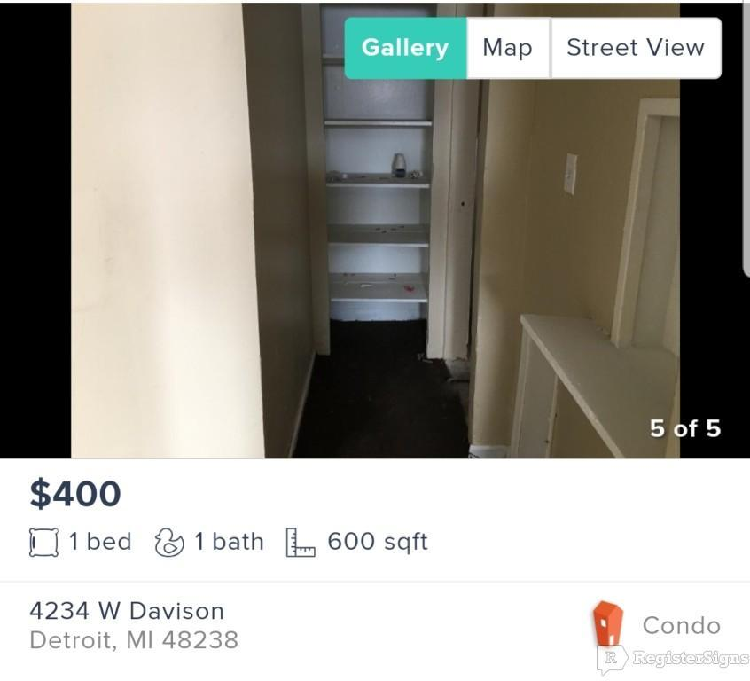 $400 One bedroom Apartment for rent