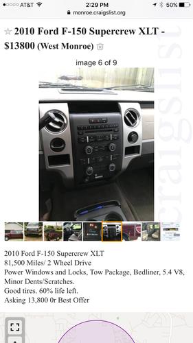 2010 Ford F150 Supercrew XLT