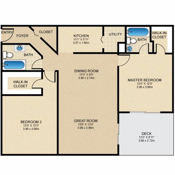 $945 Two bedroom Apartment for rent