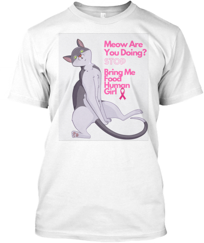 LIMITED RUN TO SUPPORT BREAST CANCER AWARENESS CAT TSHIRT