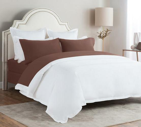 Flannel Bed Sheet In Maroon Color
