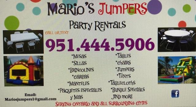 MARIO'S JUMPERS- A Prepared Party is a Better Party