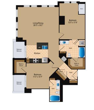 $7260 Two bedroom Apartment for rent