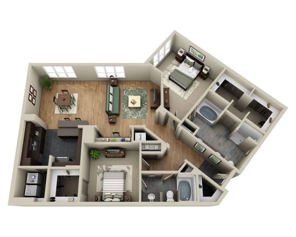 $2112 Two bedroom Apartment for rent