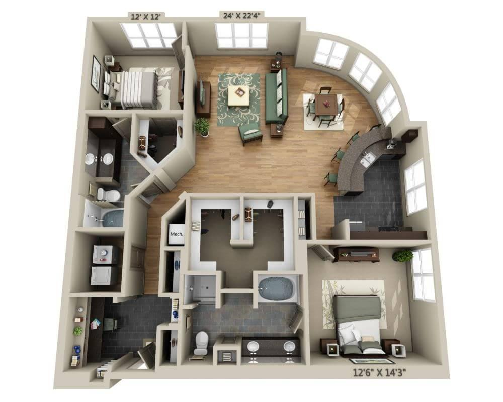 $2242 Two bedroom Apartment for rent