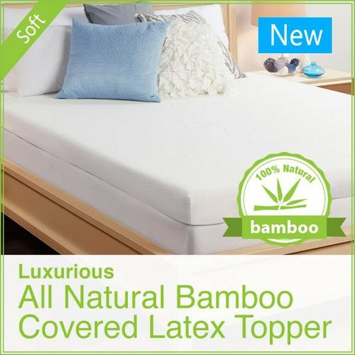 Luxurious Natural Latex Mattress Toppers2 inch– Well Living Shop