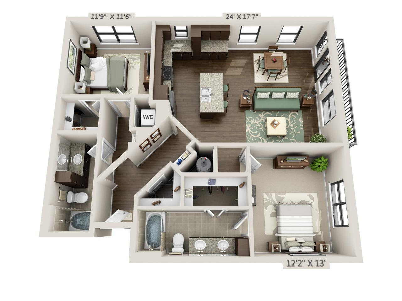 $2030 Two bedroom Apartment for rent