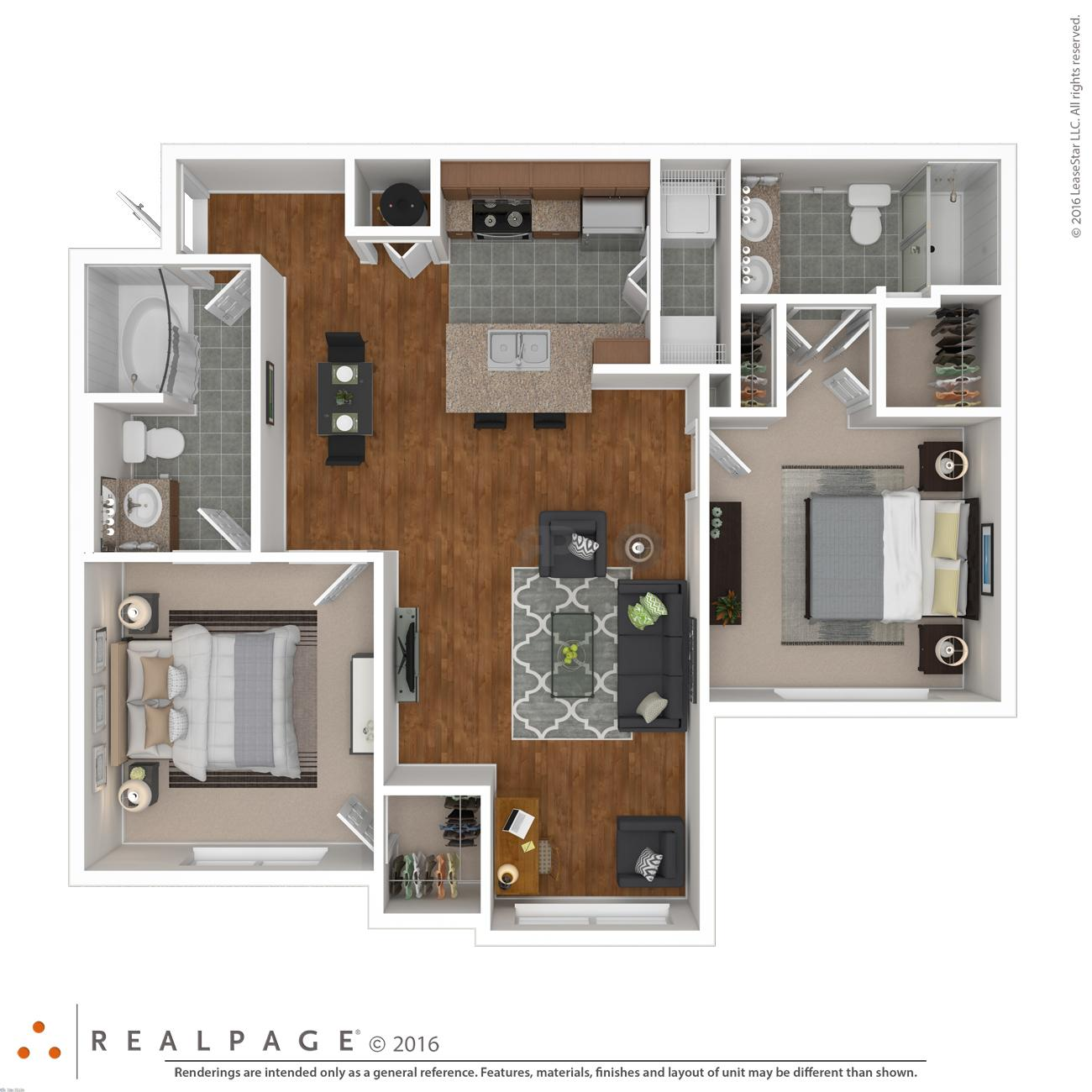 $1733 Two bedroom Apartment for rent