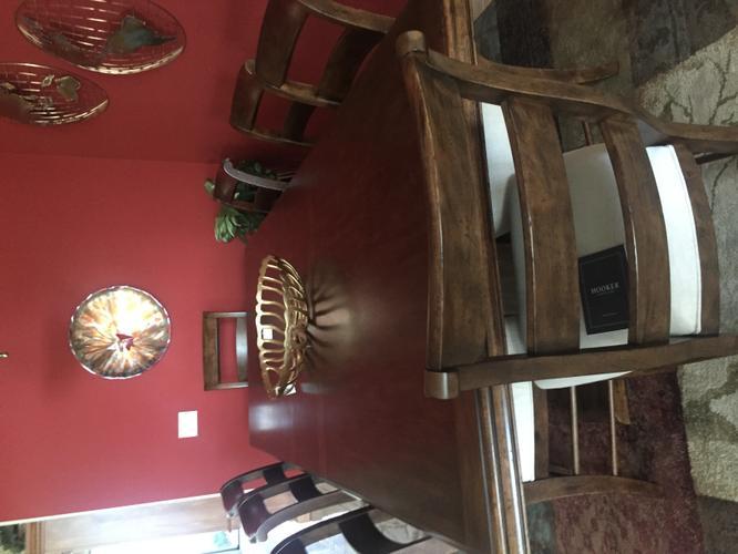 Solid Oak Dining Table Set