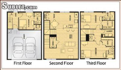 $1210 Three bedroom Townhouse for rent