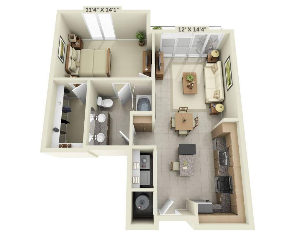 $1673 One bedroom Apartment for rent