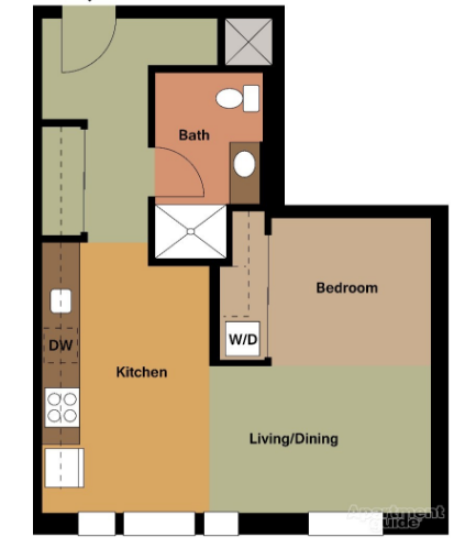 $1473 Studio Apartment for rent