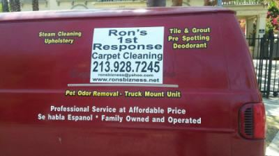 Ron's 1st Response Carpet Cleaning Service