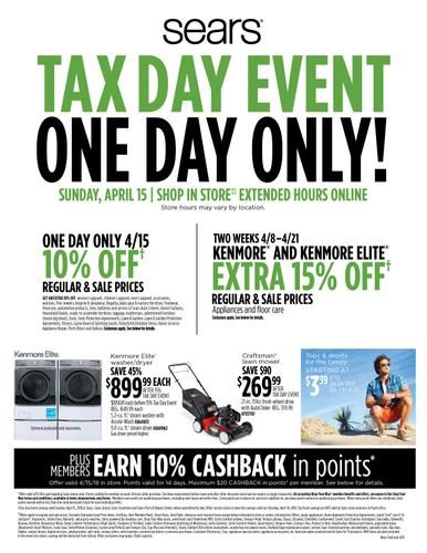 Sears Tax Day Event