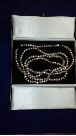 "60"" LG. Pearl Necklace, 7-8mm, AA+ Quality (Double Length)"