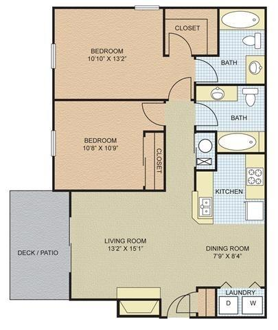 $783 Two bedroom Apartment for rent
