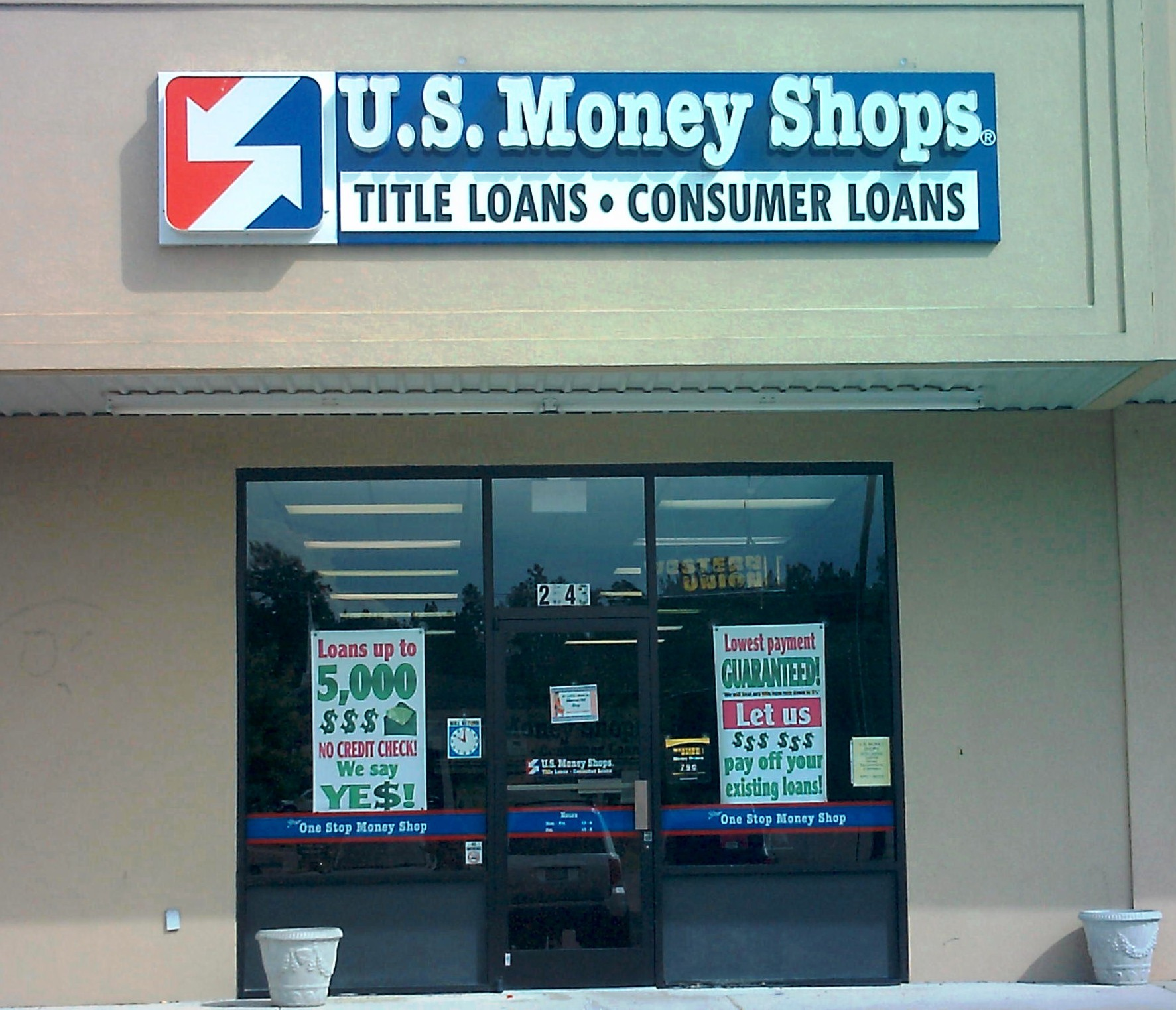 U.S. Money Shops Title Loans