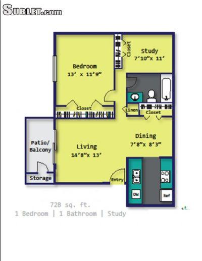 $1179 One bedroom Apartment for rent