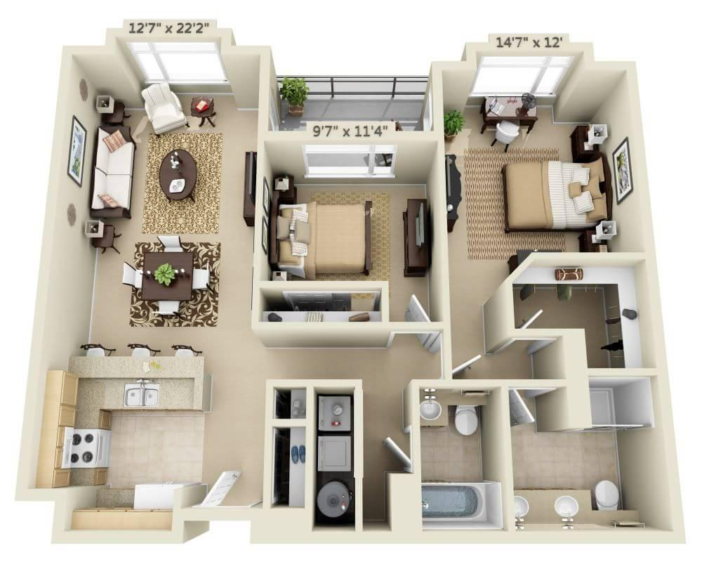 $3082 Two bedroom Apartment for rent