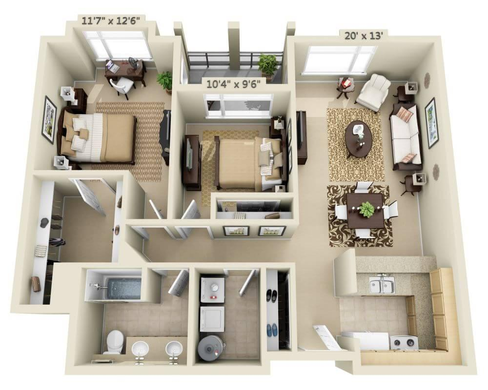 $2943 Two bedroom Apartment for rent
