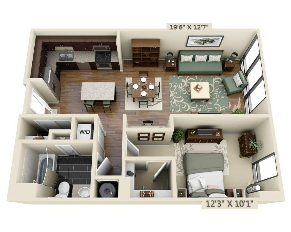$3104 One bedroom Apartment for rent