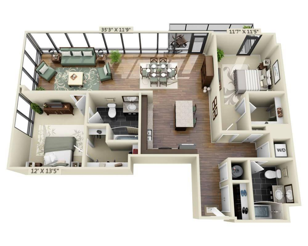 $4519 Two bedroom Apartment for rent