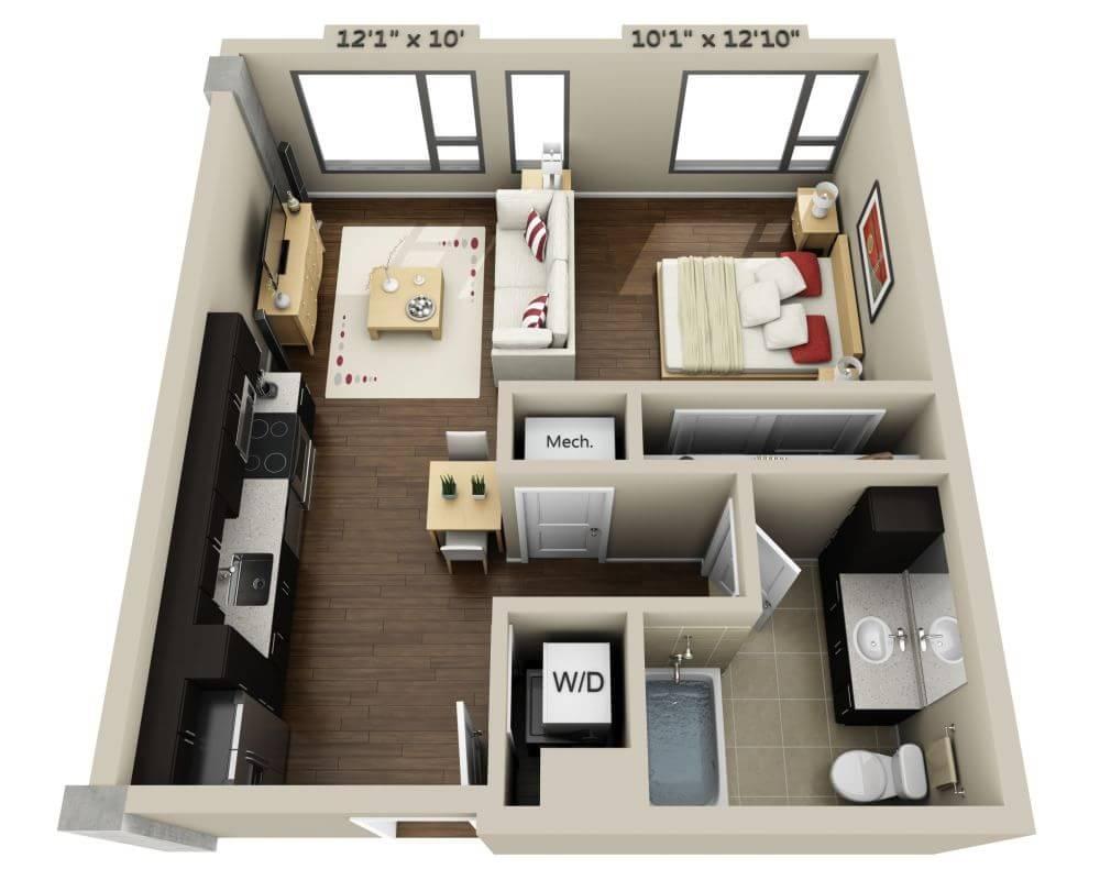 $3232 Studio Apartment for rent