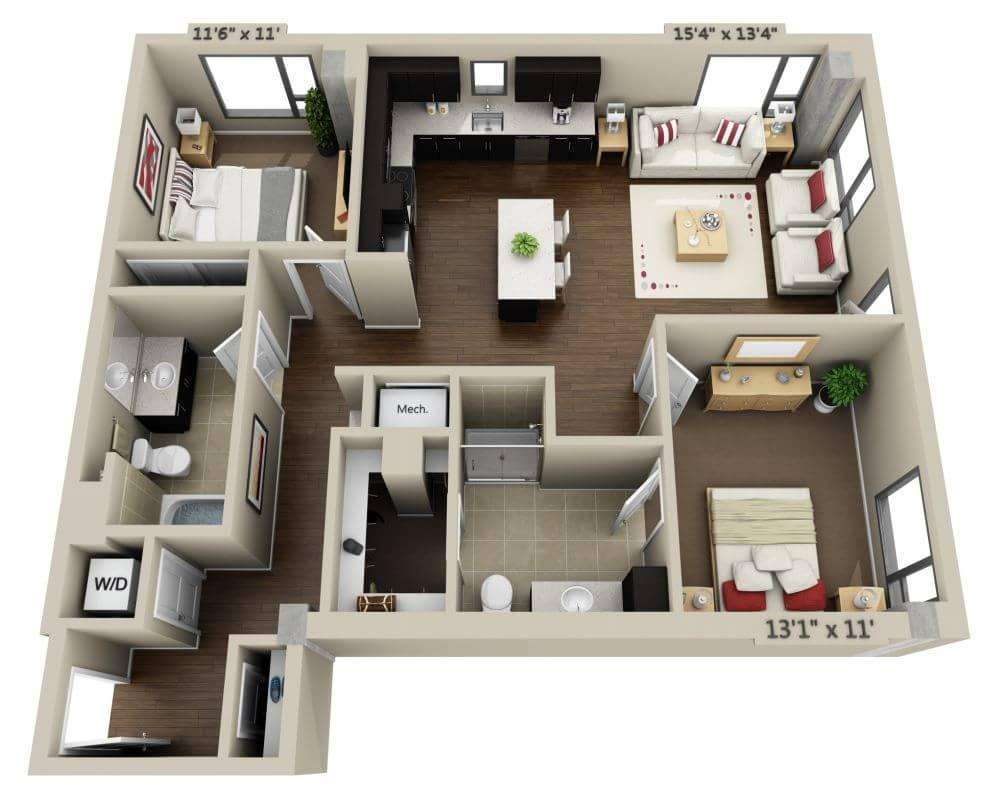 $5076 Two bedroom Apartment for rent