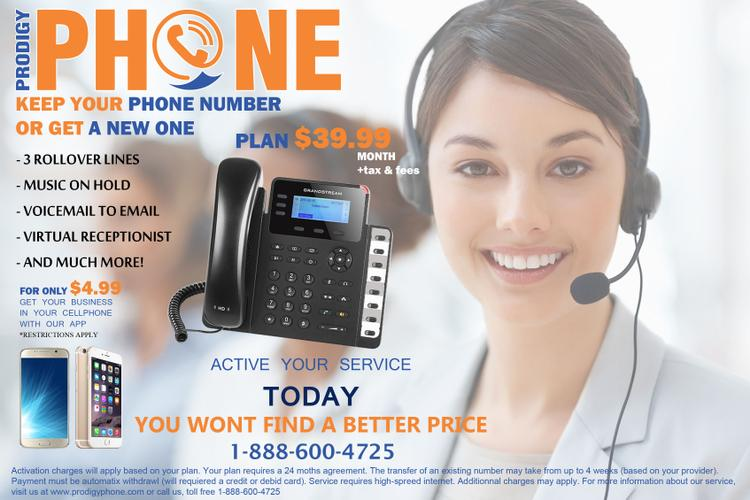 Prodigy Phone: Telephone Line for companies