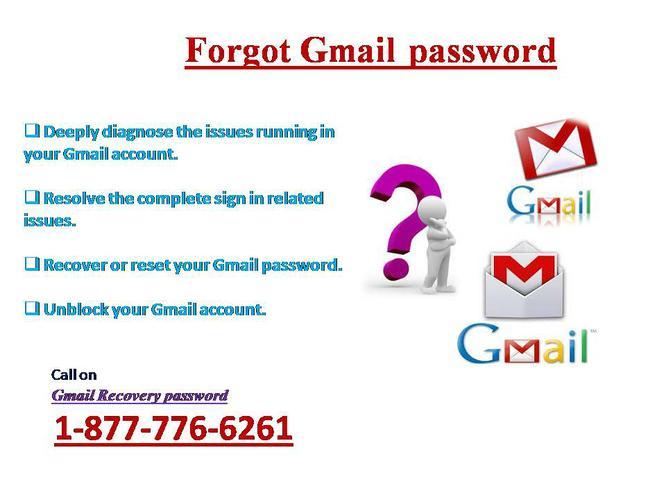 Forgot Gmail password? Find via 1-877-776-6261 Gmail forgot password