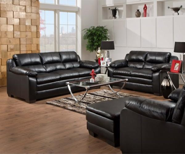 Black Sofa & Loveseat Made In The USA $599