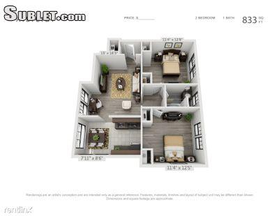$747 Two bedroom Apartment for rent