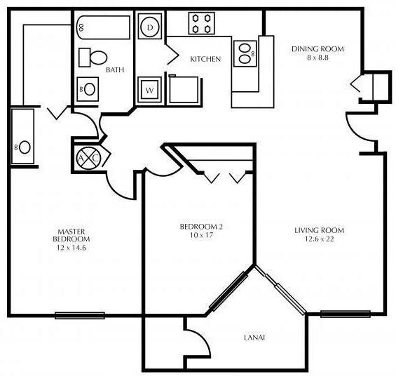 $1363 Two bedroom Apartment for rent
