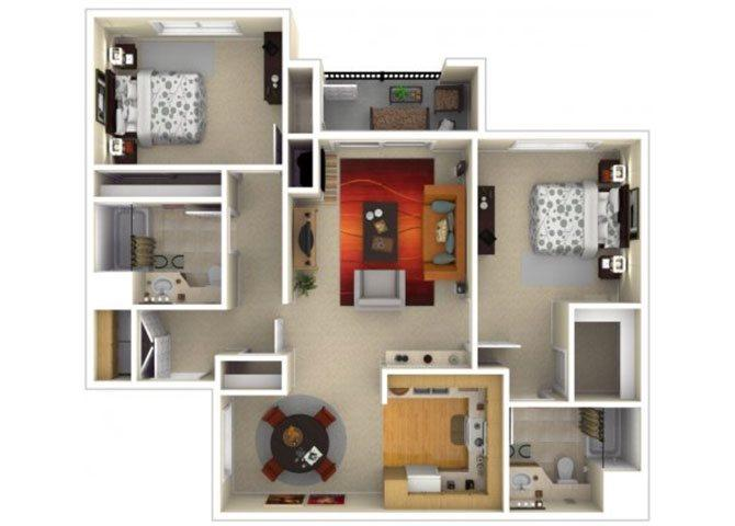 $9060 Two bedroom Apartment for rent