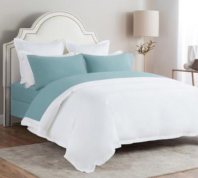 Flannel Bed Sheet In Blue Color