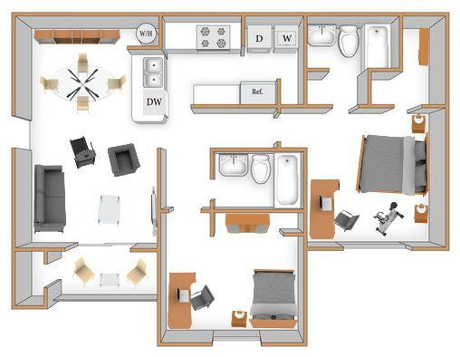 $1542 Two bedroom Apartment for rent